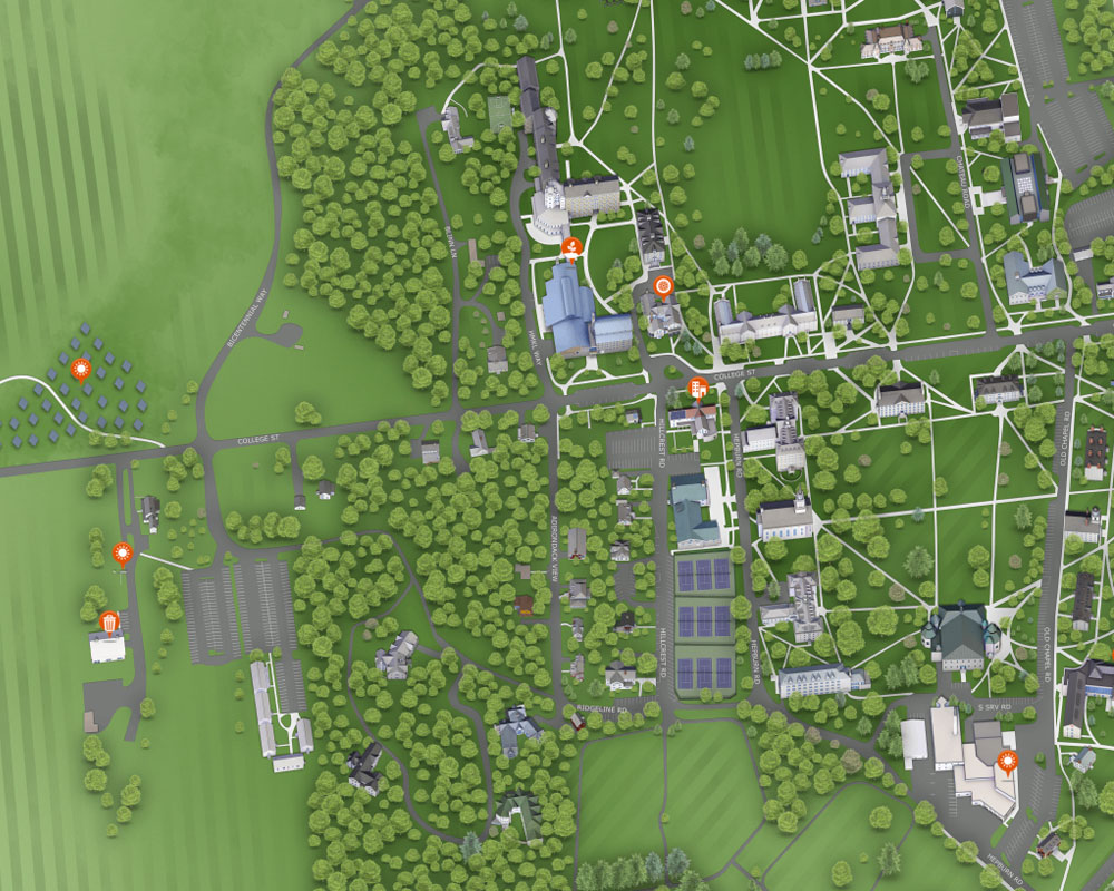 Preview of Middlebury interactive campus map