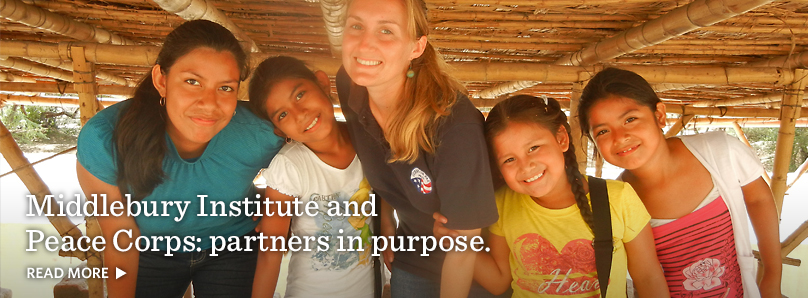 Middlebury Insitute and Peace Corps: partners in purpose.